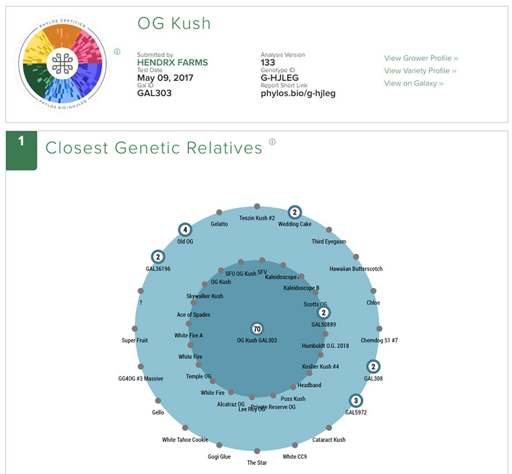 OG Kush Genotype Report